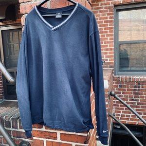 Nike Golf Blue Fleece Long Sleeved Pullover